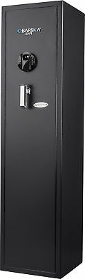 Barska Large 5 Rifle Gun Safe Biometric Fingerprint Keypad Quick Access