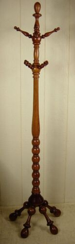 Antique Oak Clothes Tree