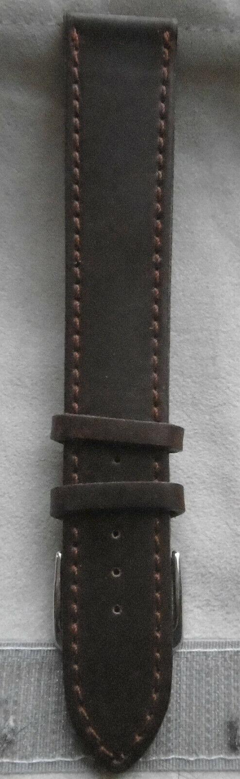 Nomos Lederband braunrot 20 mm