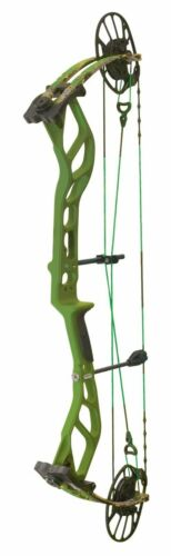 """New 2021 PSE Nock On NOCKON Embark 45 - 70# Compound BOW 23.5""""-30.5""""-GREEN/SITKA"""