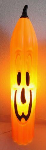 "36"" General Foam Blow Mold Vintage Halloween Pumpkin Tall Skinny Jack O Lantern"