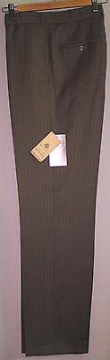 Herren Flat-front Wollhose (Herrenhose Herren Anzug Hose Anzughose Taupe Wolle Flatfront  25,27,28,94 NEU)