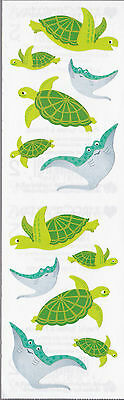 Mrs  Grossmans Stickers   Playful Turtles And Friends   Manta Ray   4 Strips