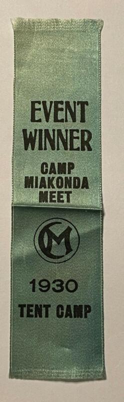 Very Rare 1930 Camp Miakonda Ohio Woven Event Winner Patch Boy Scout