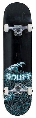 Enuff Skateboards Groß Wave Komplettes Skateboard 20.3cm, Schwarz
