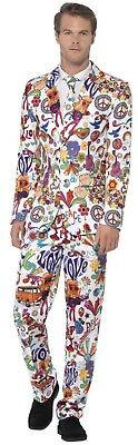 Herren 1970s 1960s Graffiti Kunst Anzug Hippie Hippy Kostüm Kleid Outfit - Halloween 1970's Kostüm