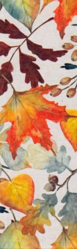 Fall Leaves (each different) decorative paper,  laminated bookmark