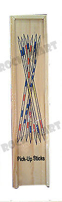 PICK UP STICKS Makado Spiel Classic Game Travel Wood Box RM2056