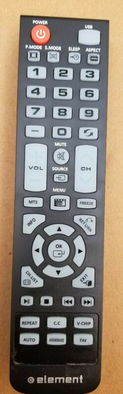 New Element Remote Control 845-046-03b1 For:  Xhy3533 Elefw328 Eleft426 Eleft506