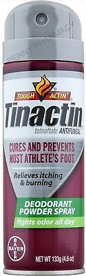 Tinactin Antifungal Athletes Foot DEODORANT POWDER Spray 4.6oz green  Antifungal Foot Powder