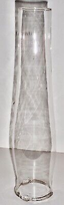 """Vintage Aladdin Lox-On Clear Glass Lamp Chimney 12 5/8"""" tall 2 3/4"""" fitter"""