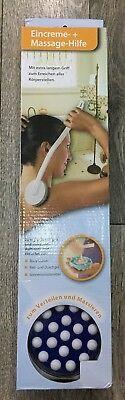 Eincremehilfe Rückencremer Griff abnehm. Massage Eincremer +Aloe-Vera-BodyLotion