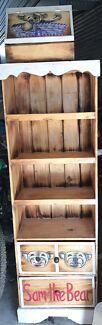 Teddy bear shelf and box