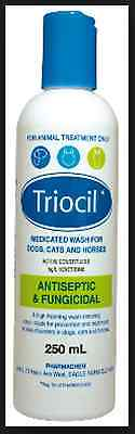 Triocil 250ml Antiseptic & Fungicidal medicated wash Horse and Dog and Cat skin