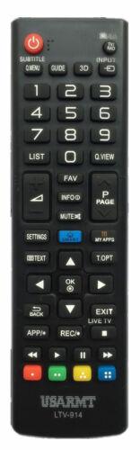 New Usbrmt Remote Ltv-914 For Lg Smart Tv Akb73975702 Akb75095330 Akb74915305