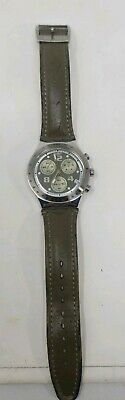 Vintage Swiss Made SWATCH Chronograph IRONY 4 Jewels V8 Quartz (p