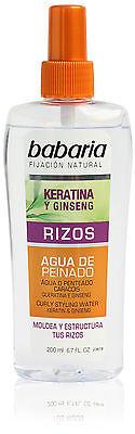 babaria Frisierwasser Keratina mit Ginseng 200ml - Rizos für locken Frisuren