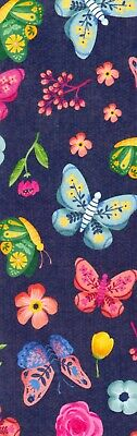 Butterflies and Flowers decorative paper,  laminated bookmark