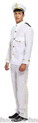 Mens White Navy Captain Sailor Uniform Armed Forces Fancy Dress Costume Outfit](White Navy Uniform Costume)