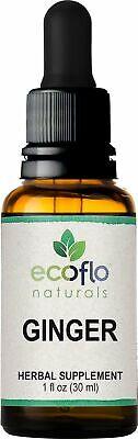 Ecoflo Naturals - Ginger Drops, 1 fl oz (30 ml) Liquid Tincture Extract Ginger Root Tincture