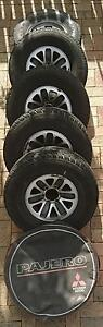 5 x (98) Mitsubishi Pajero Mag Wheels Archerfield Brisbane South West Preview