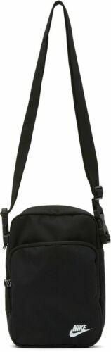Nike HERITAGE 2.0 Black Crossbody Shoulder Bag Adjustable Strap Travel BA5898