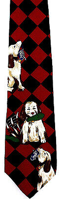 Humane Society Chew Toy Men's Silk Necktie Dog Neck Tie Pet Charity Gift New