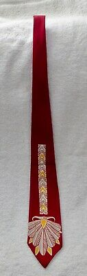 1940s Mens Ties | Wide Ties & Painted Ties VTG 1940's ART DECO VAN HEUSEN ROCKABILLY SWING NECKTIE $24.99 AT vintagedancer.com