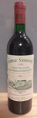 Chateau Sansonnet 1989 Grand Cru Classe Saint-Emilion Grand Cru Rotwein 0,75