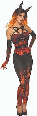 Forum Neuheiten Dämonen & Devils Fire Korsett Erwachsene Damen Halloween - Forum Schwarze Kostüm