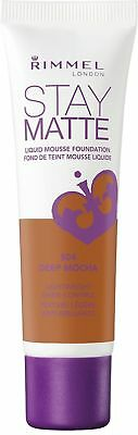 Rimmel London Stay Matte Foundation, Deep Mocha 1 oz