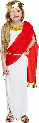 Girls Roman Goddess Fancy Dress Up Costume Child  Kids 4-12 Yrs World Book Day