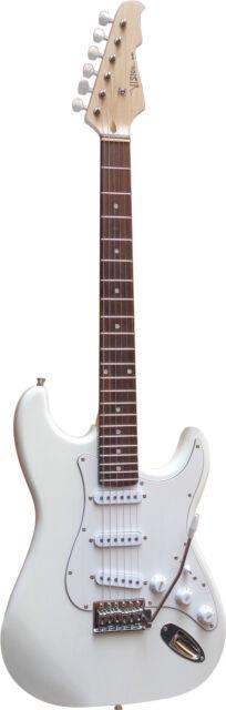 E-Gitarre MSA  Modell-ST5-weiss, Massivholzkörper, Top Auswahl, Anschlußkabel!n