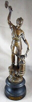 Le Forgeron Bronzed Spelter Figurine on Plinth (13.5