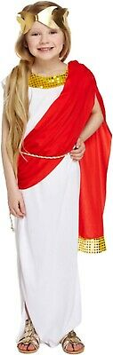 Roman Girl Dress (Girls Roman Goddess Fancy Dress Up Costume Outfit Ages 4-12 yrs)