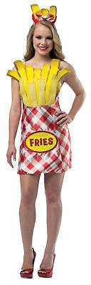Pommes Lebensmittel Fast Food Kostüm Rot und Weiß Kostüm Rasta Imposta