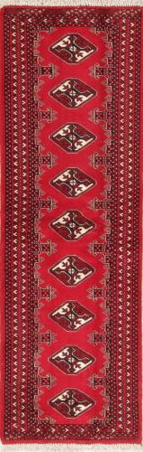 New 6 ft RED Runner Afghan Bokara Oriental Rug Wool Hall-way