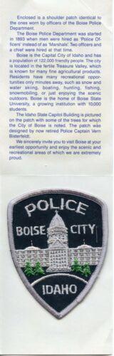 PRESENTATION FOLDER & BOISE CITY IDAHO ID POLICE PATCH