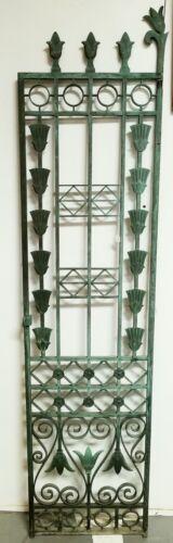Antique Art Deco Heavy Bronze Gate Door Lotus Flower Design