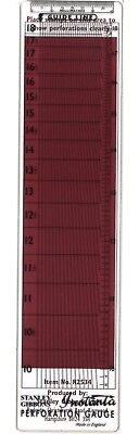 Stanley Gibbons Instanta Transparent Stamp Perforation Gauge Guide Metric Inch