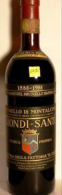 EA50 BRUNELLO MONTALCINO BIONDI SANTI 1982 RISERVACENTENARIO bottiglia rarissima