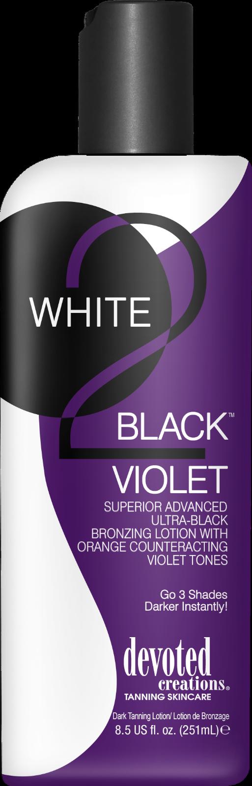 WHITE 2 BLACK VIOLET BRONZER 8.5OZ DEVOTED CREATIONS U-PICK