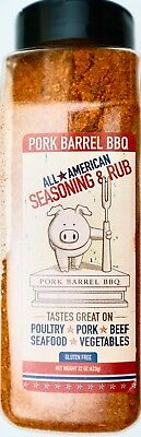 Pork Barrel BBQ All American Seasoning & Rub Made in USA, 22 Ounces