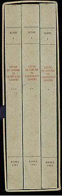 STUDI IN ONORE DI LEOPOLDO SANDRI 3 VOLUMI BENI CULTURALI 1983 ARCHIVISTICA