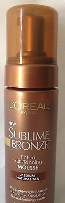 L'Oreal Sublime Bronze Tinted Self Tanning Mousse Medium Natural Tan 5 oz