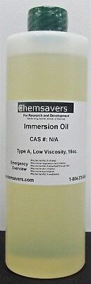 Immersion Oil Type A Low Viscosity 16oz.