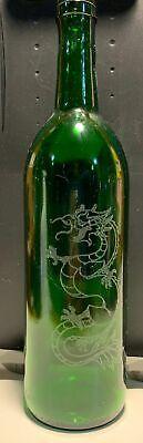 Dragon Etched Wine Bottle Incense Burner Ash catcher