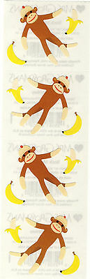 kers - Sock Monkey - Old Fashioned Stuffed Toy - 4 Strips (Old Sock Monkey)