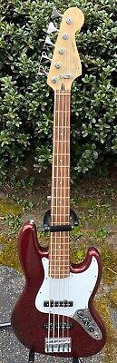 1998 Fender Standard Jazz Bass V Midnight Wine Red 5 String