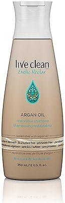 Live Clean Exotic Nectar Argan Oil Restorative Shampoo 12 oz (Pack of